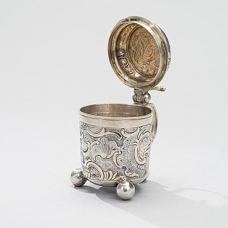 Tankard, silver and gilt silver, moscow 1757, petr semenov, weight 248 g