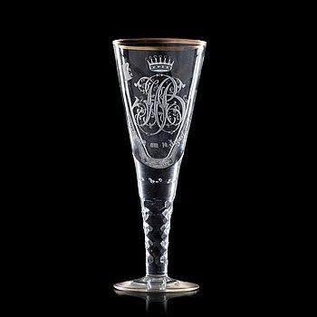 1331. MINNESPOKAL, glas. Tyskland, 1800-tal.