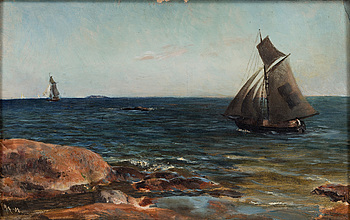 AKSELI GALLEN-KALLELA, AKSELI GALLEN-KALLELA, SAILING BY THE SHORE.
