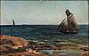 Akseli gallen-kallela, seglats vid kusten.