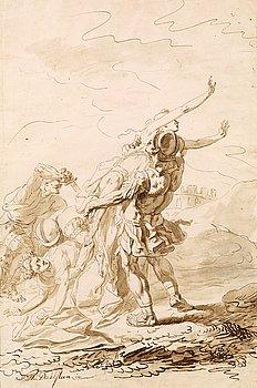 1131. AUGUSTIN DAHLSTEEN, Tuschlavering, Signerad A. Dahlsteen.