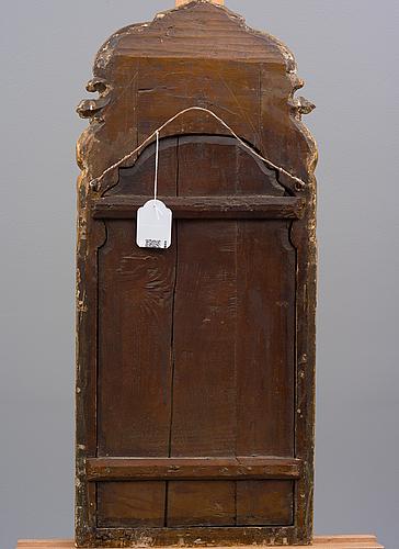 Spegel, rokoko 1700-tal, signerad petter johansson helin/jöran beckman, stockholm.
