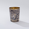 Beaker, gilt silver and niello, moscow 1804, unidentified goldsmith, weight 98 g.