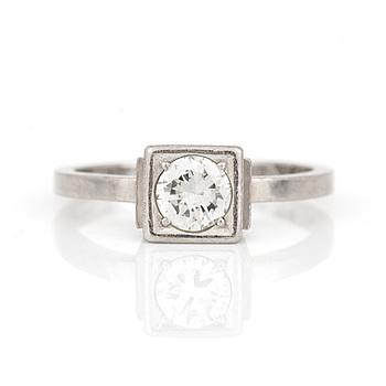 WIWEN NILSSON, Lund 1960. Ring platina med briljantslipad diamant.
