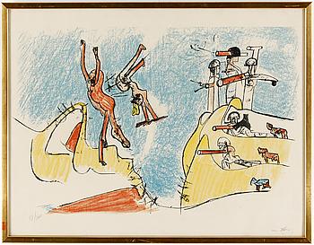 ROBERTO MATTA, ROBERTO MATTA, färglitografi, signerad och numrerad 98/200.