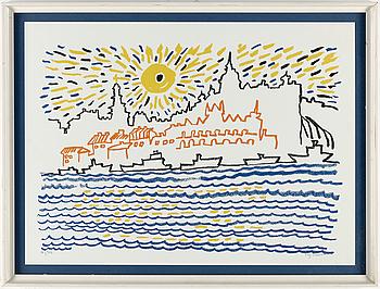 STIG CLAESSON (SLAS), STIG CLAESSON, färglitografi, signerad och numrerad 60/300.