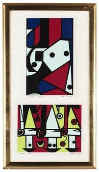 983. OLLE BAERTLING, Geometrisk komposition, 2 st