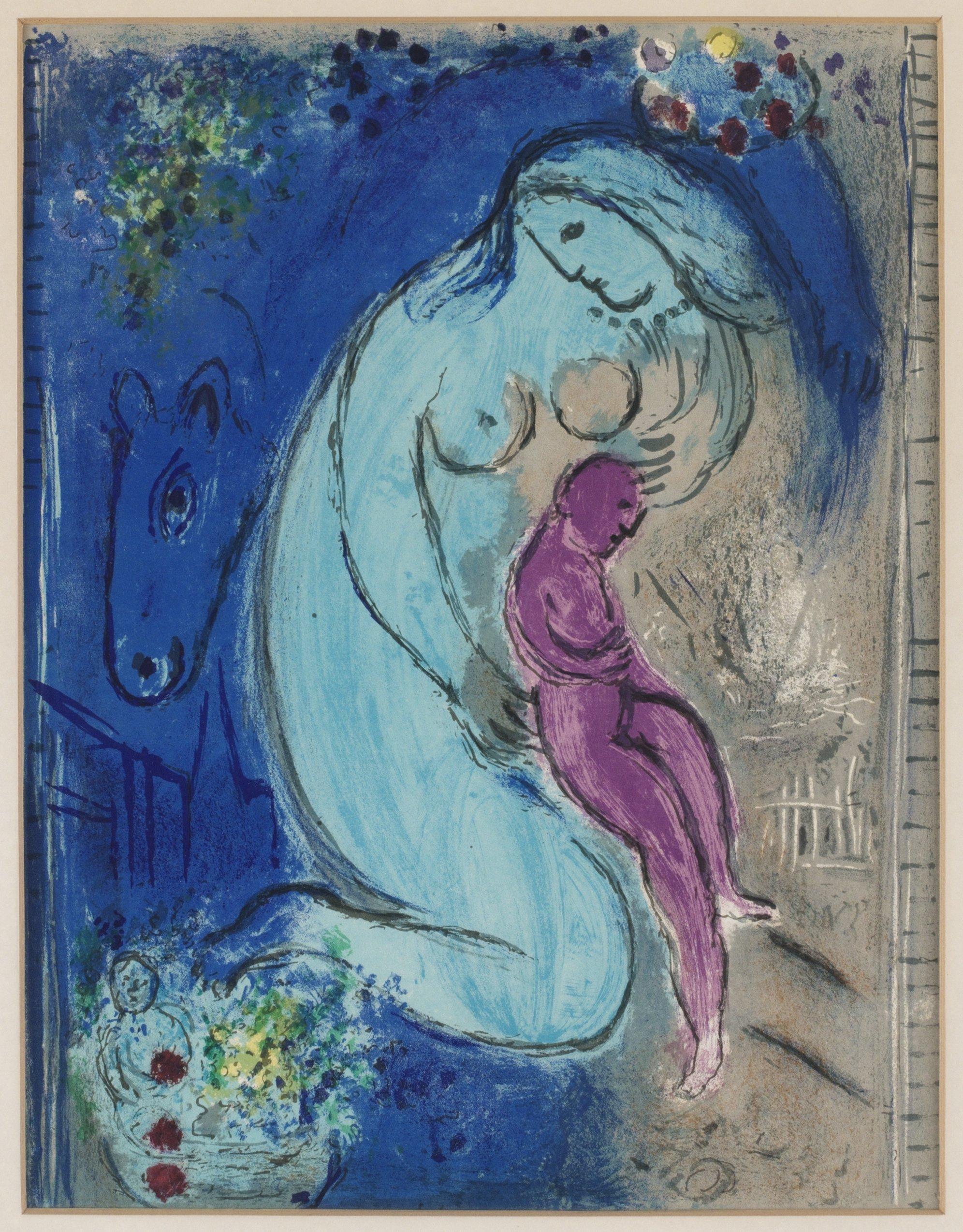 Marc chagall ur derri re le miroir nr 66 68 bukowskis for Chagall derriere le miroir