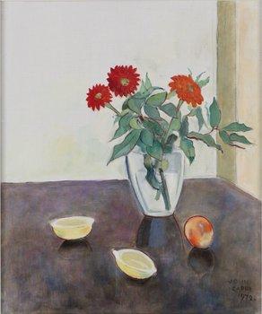 1058. EINAR JOLIN Stilleben med blommor, citroner och aprikos