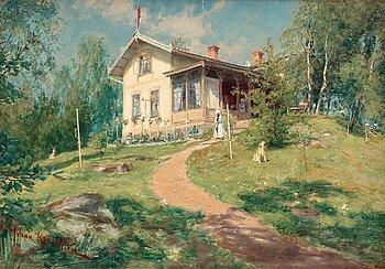 """853. JOHAN KROUTHÉN, """"Villa Björkbacken""""."""