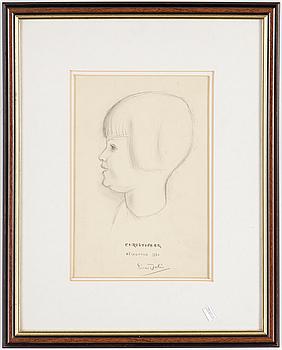 EINAR JOLIN, EINAR JOLIN, blyerts, signerad och daterad 1930.