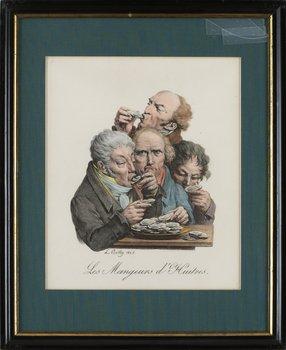 """4. LOUIS-LÉOPOLD BOILLY, """"Les mangeurs d'huitres"""" + """"La gourmandise""""."""