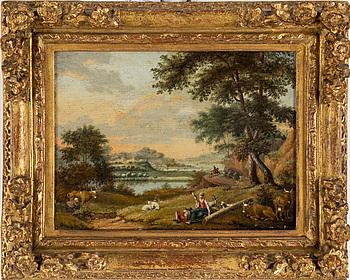 1019. CARL SPARRE, Olja på pannå, signerad och daterad 1708.