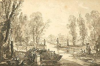 1136. JEAN-PIERRE NORBLIN DE LA GOURDAINE, Tillskriven, Lavering, ej signerad.