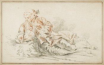 1134. JACQUES ANDRÉ PORTAIL, Tillskriven. Kritteckning, ej signerad.