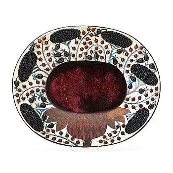 2. Birger Kaipiainen, a stoneware dish, Arabia, Finland 1970's.