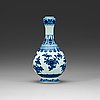 A blue and white vase, qing dynasty with qianlong seal mark.
