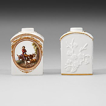 1349. TEDOSOR, två stycken, porslin. Meissen, 1700-tal.