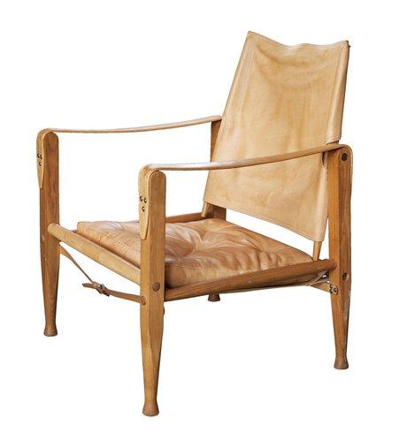 """FÅtÖlj, """"safari chair"""", formgiven av kaare klint."""
