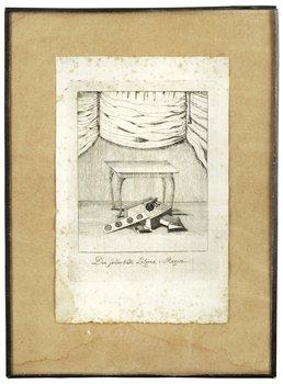 """1. Okänd konstnär 17/1800-tal, """"Den sonderbrädte Laterna=Magica"""""""