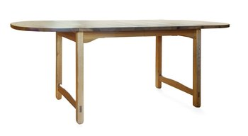 4. A PINE DINNER TABLE,