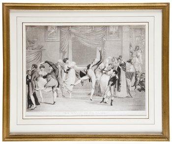 """13. OKÄND KONSTNÄR, 1800-TAL. Gravyr. """"La Manie de la Danse"""". 1809."""