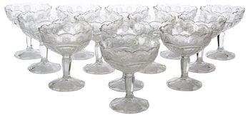 10. A SET OF 17 GLASS BOWLS,