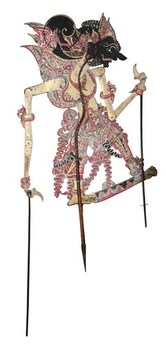 A painted dance doll,