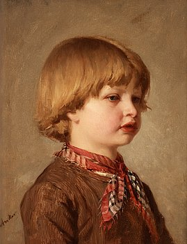 1001. Albert Anker, Portrait of a young boy.