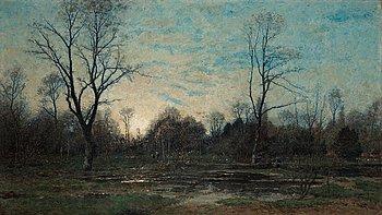 899. Per Ekström, The woods at dusk.