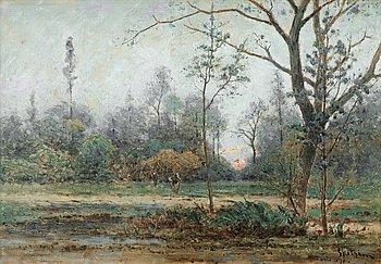 851. Per Ekström, Skogsmotiv i närheten av Paris.