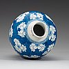 A blue and white jar, qing dynasty, (1644-1912).