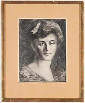 NILS VON DARDEL, NILS VON DARDEL, teckning, signerad och daterad 1908.