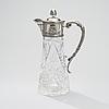 Pitcher, silver and glas, russia, moscow ca 1900, petr evstratovitch abrosimov