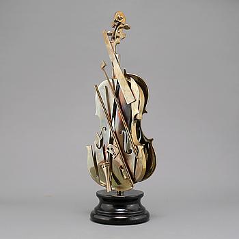 FERNANDEZ ARMAN, skulptur, guldpatinerad brons, signerad och numrerad 47/100.