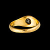 A ring, 18k (92) gold, old cut diamond. russian marks 1899 1907