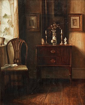 992. Carl Holsoe, Interior with chair.