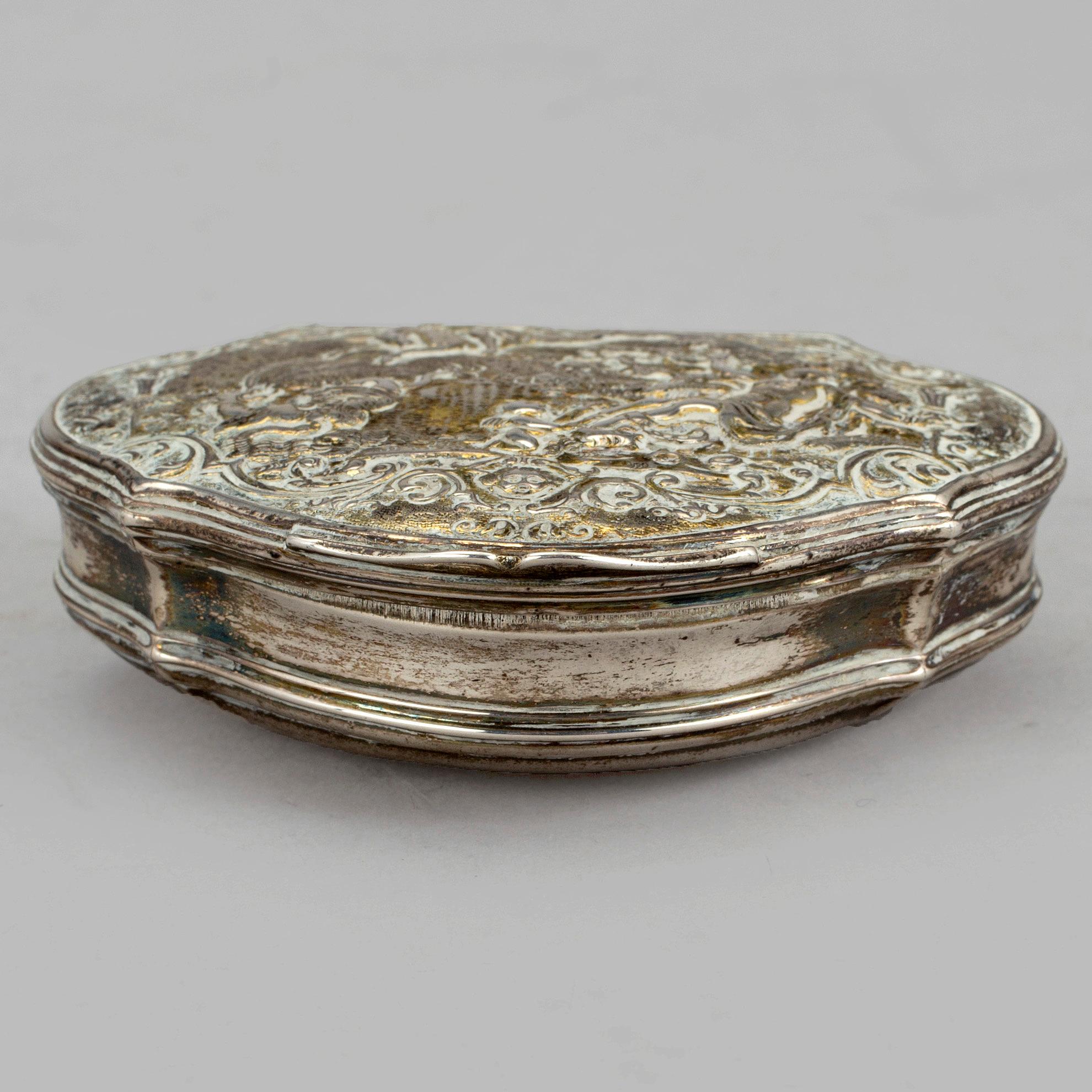 SNUSDOSA Silver Johan Fagerberg Karlskrona 1799 Vikt Ca 79 G