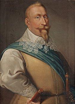 1022. Jacob van der Doordt Hans art, Kung Gustav II Adolf (1594-1632).
