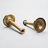 Ljusstakar ett par, förgylld brons, empire, frankrike 1800-talets första hälft.