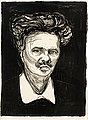 "EDVARD MUNCH, ""August Strindberg"". ""August ..."