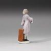 "Figurin, porslin. meissen, ""crie de paris"", 1745. krimskramsförsäljaren."