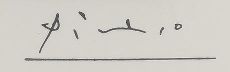 """Pablo picasso, ur """"156 gravures""""."""