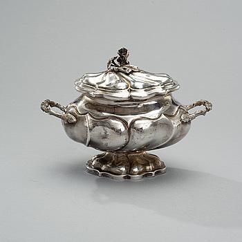 SOCKERSKÅL, silver, Litauen, Vilnius 1858, Daniszewski vikt 836 g.