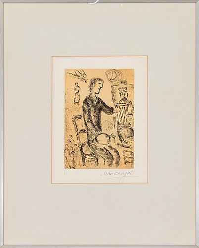 "Marc chagall, self portrait from ""psaumes de david"""