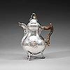 A swedish 18th century silver coffee-pot, pehr zethelius, astockholm 1771.