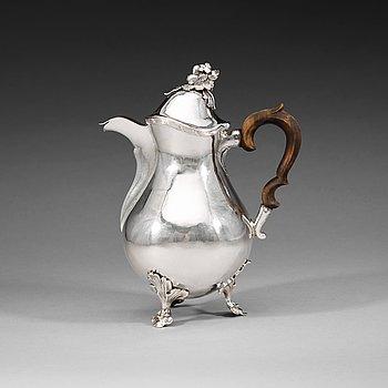 407. A Swedish 18th silver coffee-pot, Nils Grubb, Hudiksvall 1779.
