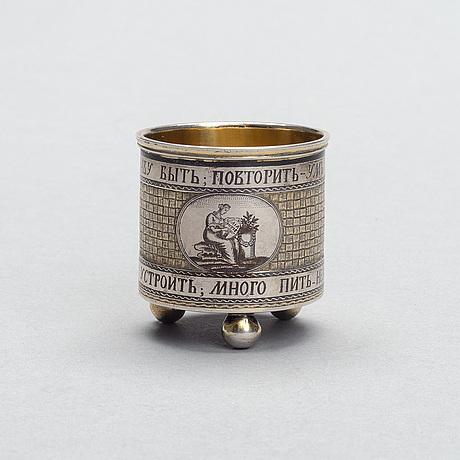 BÄgare, silver och niello, ryssland, veliky ustyug 1800-talets början, alexandr shilin, vikt 94 g.