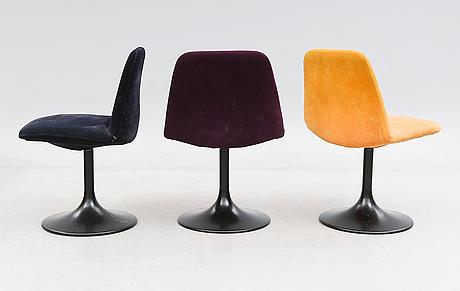 Stolar, 7 st, johansson design ab, markaryd, 1900-talets andra hälft.
