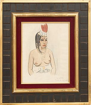 EINAR JOLIN, EINAR JOLIN,  akvarell. Signerad och daterad Tunis den 23/1 1923.
